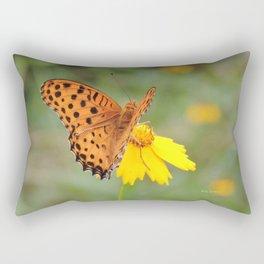 Ms. Indian Fritillary at West Lake Rectangular Pillow