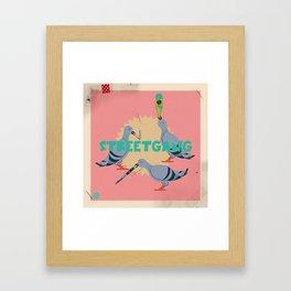 Street Pigeons Framed Art Print