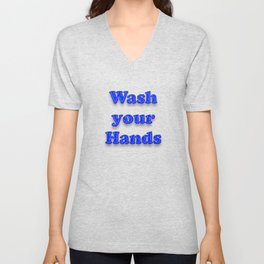 Wash your Hands BLUE Unisex V-Neck
