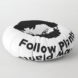 Terence Mckenna - Avoid Gurus, Follow Plants Floor Pillow