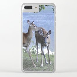 Early Evening Visitors Young Deer -Debra Cortese photo art Clear iPhone Case