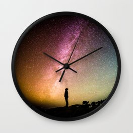 Me against the universe Wall Clock