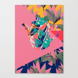 Jungle Pop! Color Block Retro Teapot Canvas Print