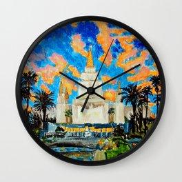 Oakland California LDS Temple Wall Clock