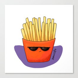 I love french fries Canvas Print