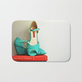 Books and Shoes Bath Mat