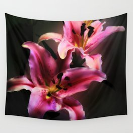 Pink Stargazer Lily Wall Tapestry