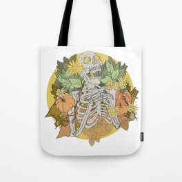 Autumn Skeleton Tote Bag