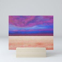 Red Salt Desert / Pastel Drawing Mini Art Print