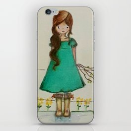"The little farm girl ""paisanita"" iPhone Skin"