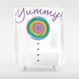 Yummy Loli Purp Shower Curtain