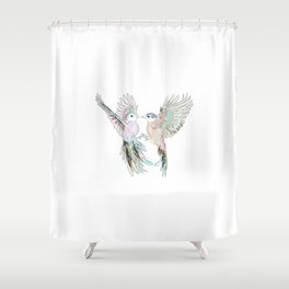 Wedding Birds #3 #tropical Shower Curtain