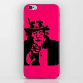 Neon Pink Uncle Trump Needs You iPhone Skin