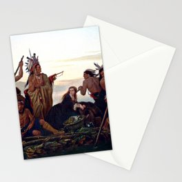 The Abduction of Boone's Daughter by the Indians Stationery Cards