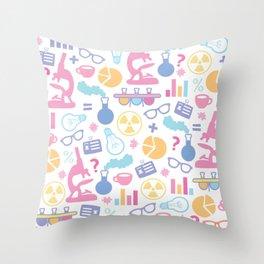 Pastel Science Pattern Throw Pillow