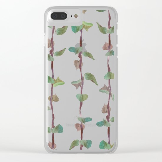 Leaves Net Clear iPhone Case
