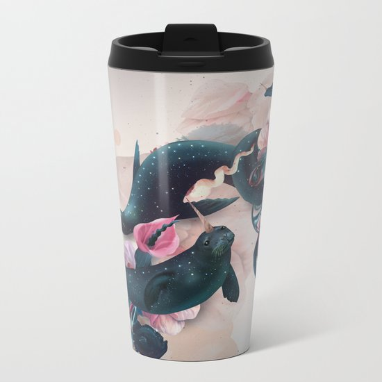 sea calf Metal Travel Mug