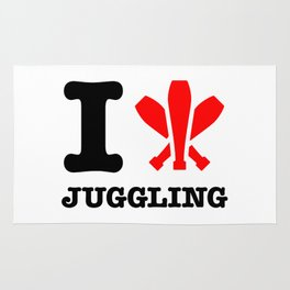 I Love Juggling Rug