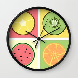 Fruit Pop Wall Clock
