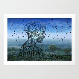 Breath into the Sky Art Print