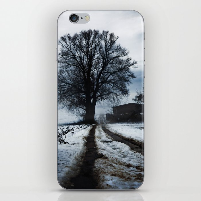 Foggy winter day I iPhone Skin