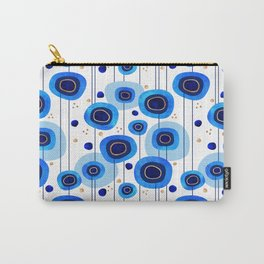 Floral Blues Pattern Carry-All Pouch