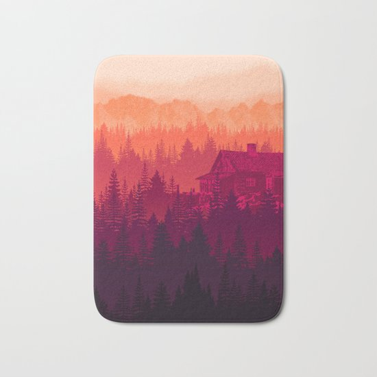 Cabin in the woods Bath Mat