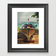 Fisherman -  Phuket - Thailand Framed Art Print