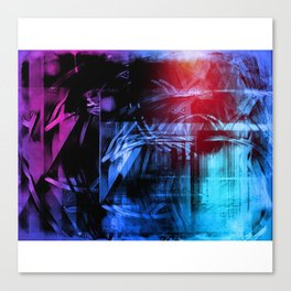 Northern Lights Blue Abstract Canvas Print