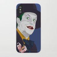 jack nicholson iPhone & iPod Cases featuring Joker Nicholson by FSDisseny