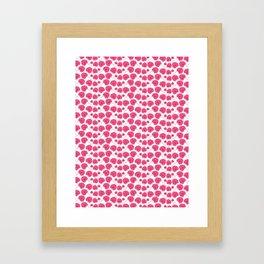 Cherry blossom pattern Framed Art Print