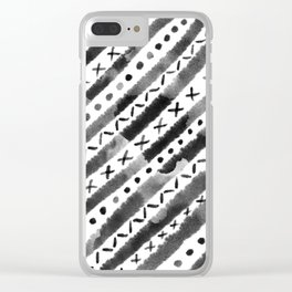 Tempe Mudcloth Clear iPhone Case