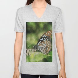 Blue Tiger Unisex V-Neck