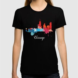 Chicago Cityscape Watercolor T-shirt