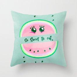 So sweet to eat. Throw Pillow