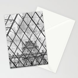 Louvre (Black and White) Stationery Cards