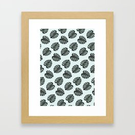 Monstera Pattern Framed Art Print