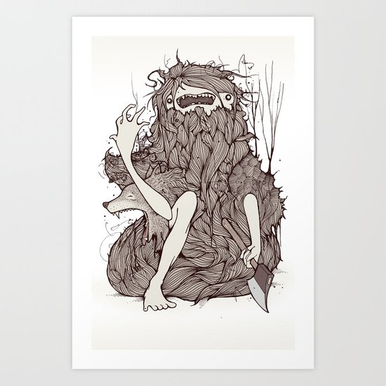 The forest is rotting Art Print