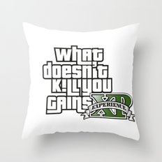 What Doesn't Kill You Gains XP Throw Pillow