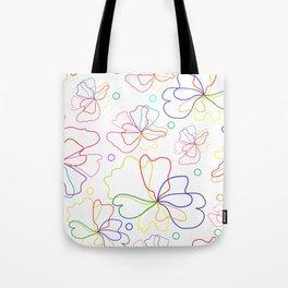 Colorful flower design Tote Bag