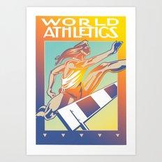 World Athletics Art Print