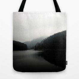 Grey Morning Tote Bag