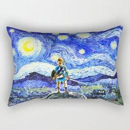 triforce link starry night Rectangular Pillow