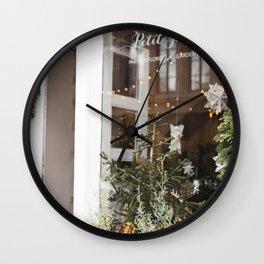 The Little Florist Shop Wall Clock