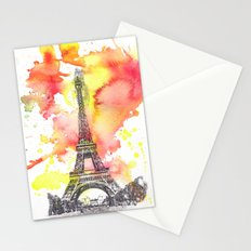 Eiffel Tower in Paris France Stationery Cards