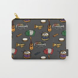 Toy Instruments on Grey Carry-All Pouch