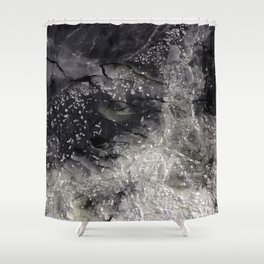 Floating ice sheets Shower Curtain