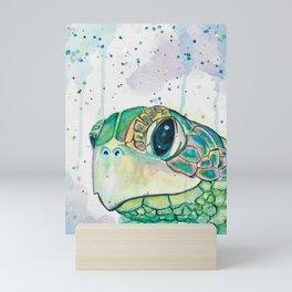 Watercolor Sea Turtle Painting Sea Animals Beach Inspired Wall Art Ocean Artwork Seaside Decor Mini Art Print