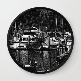 Oceanside CA - Reflecting on the past Wall Clock