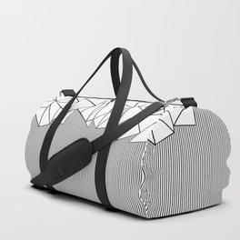 Ab Lines White Duffle Bag
